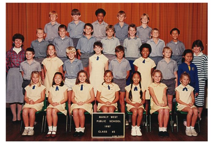 ... Manly West ... Manly West Public School 1987 Class 6S. Full screen